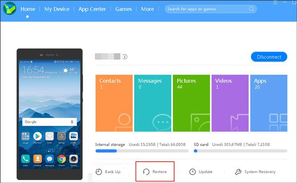 retrieve deleted sms on huawei using huawei hisuite