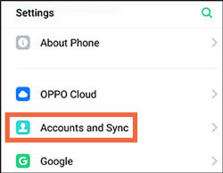 restore oppo phone from google account