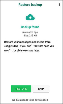fast restore deleted whatsapp messages from google drive to android device