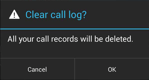 delete samsung call logs by accident