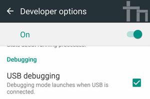 enable usb debugging when android file transfer is not working