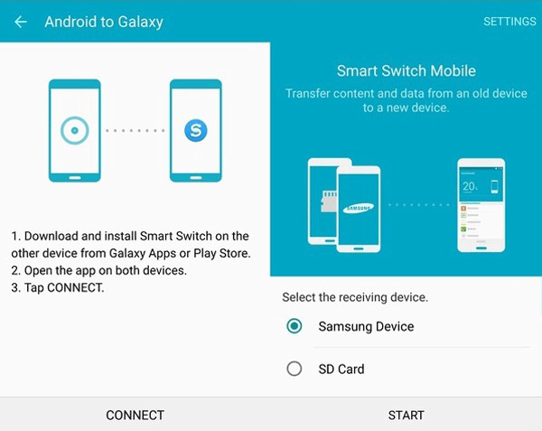 smart switch transfers files wirelessly to samsung