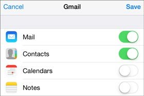 send contacts from lg to iphone with google account