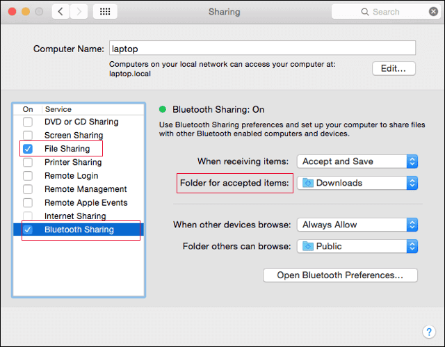transfer files from mac to huawei via bluetooth