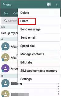 share contacts from samsung to oppo with email