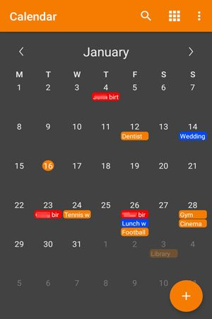 transfer calendar to new phone with simple calendar