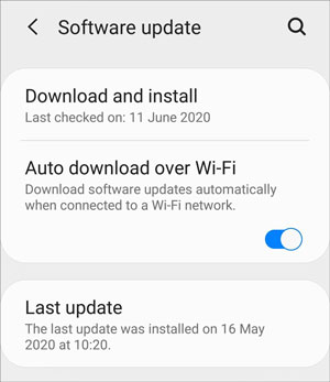 fix samsung mobile hanging problem by updating os