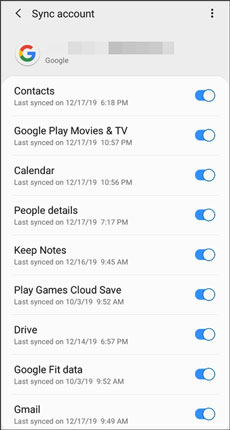 sync files from between sony xperia phones via google backup