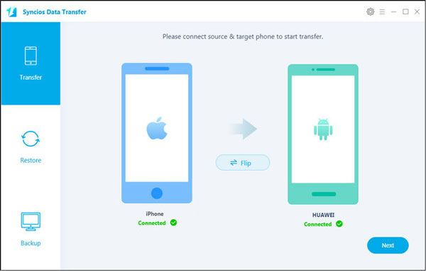 send files between mobile devices with this phone data transfer software
