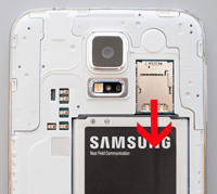 take out your samsung sd card