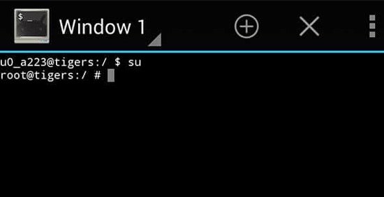 confirm if the phone is rootable using terminal emulator