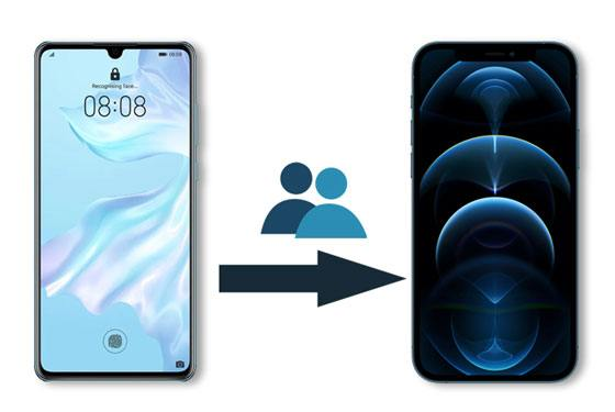 transfer contacts from huawei to iphone