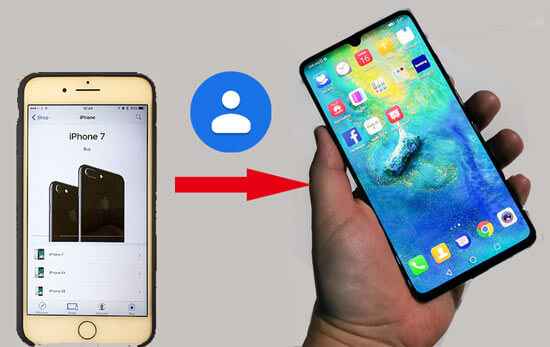 how to transfer contacts from iphone to huawei