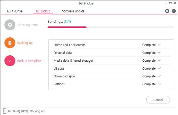 make lg migrate data with lg bridge