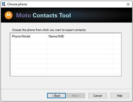 download motorola contact transfer tool to transfer contacts