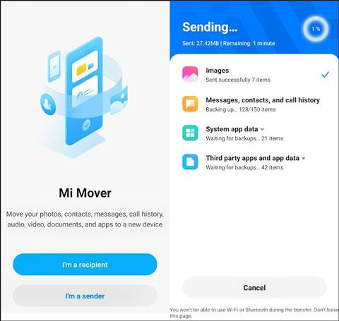 transfer data from iphone to xiaomi mi 9 with mi mover