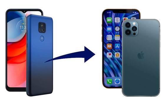 transfer data from motorola to iphone