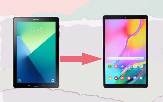 transfer data from old tablet to new tablet