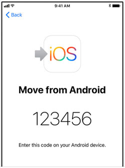 transfer data from android to ios device