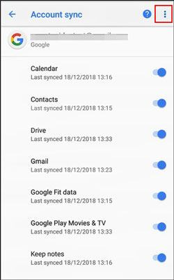 sync data from iphone to pixel with google account