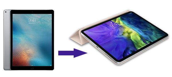 how to transfer old ipad to new ipad