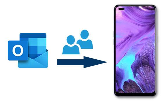 transfer outlook contacts to android