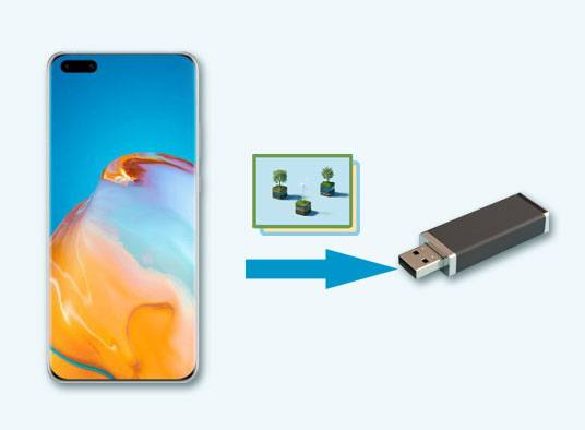 how to transfer photos from the android phone to the usb flash drive