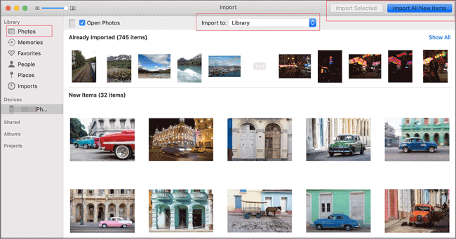 transfer photos from android to mac with image capture