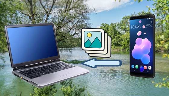 how to transfer photos from htc to pc