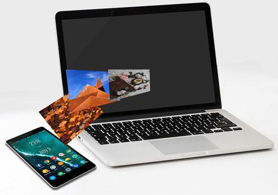 how to transfer photos from phone to laptop without usb