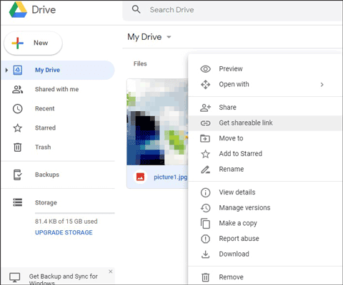 how to transfer pictures from android to pc with google drive