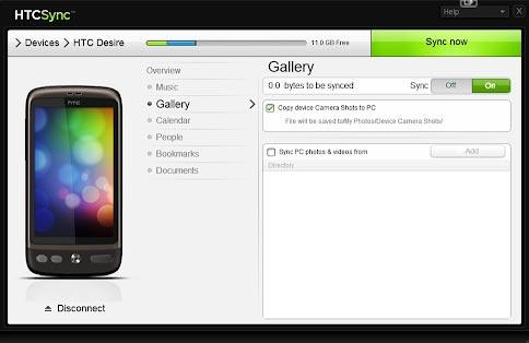 how to transfer photos from htc desire to pc with htc sync manager