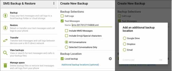 how to transfer text messages from android to pc with sms backup and restore