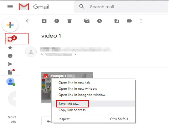 how to download videos from phone to computer by email