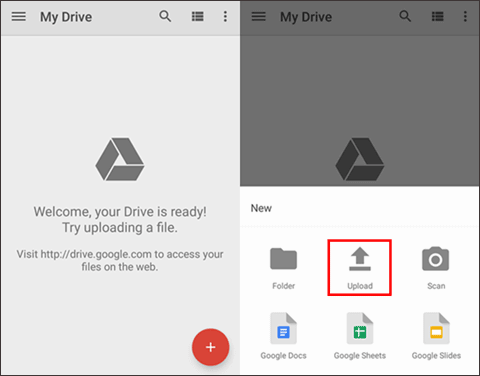 android share files over wifi with google drive