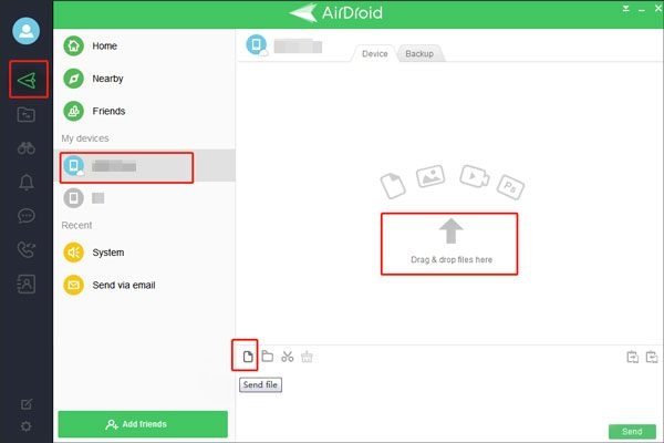 get videos on your pc to your phone using airdroid