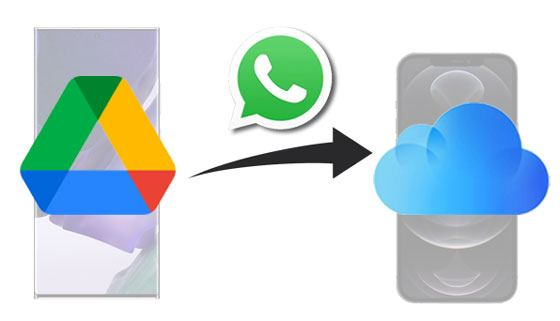 transfer whatsapp backup from google drive to icloud