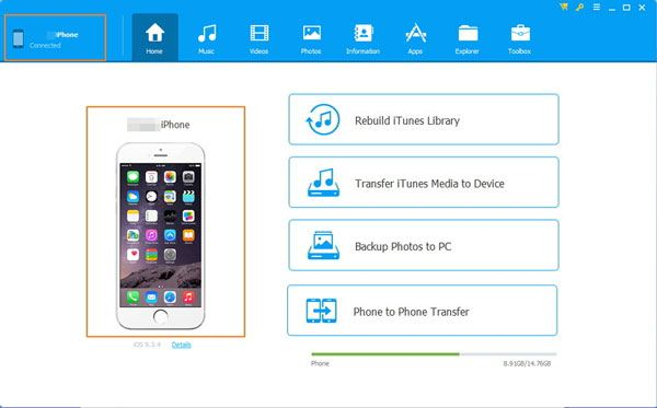 copy data with the phone transfer program