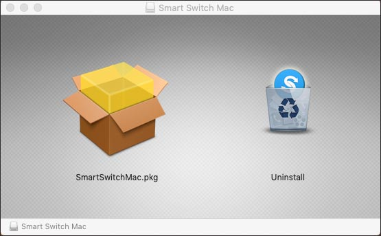uninstall smart switch for android file transfer no android device found