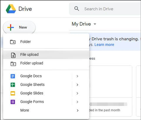 move files from computer to android without usb using google drive