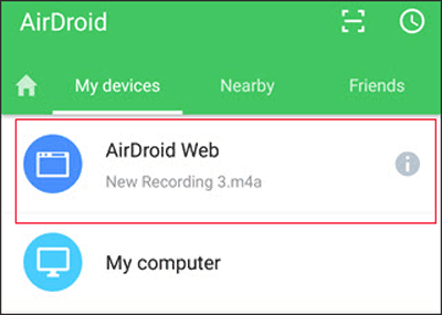 upload photos from android to mac via airdroid