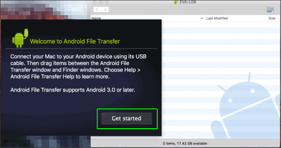 use android file transfer on mac