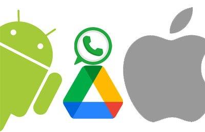 restore whatsapp backup from samsung to iphone via google drive