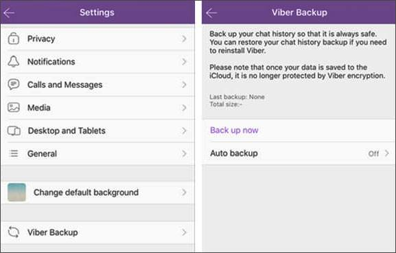 back up viber messages on a mobile phone