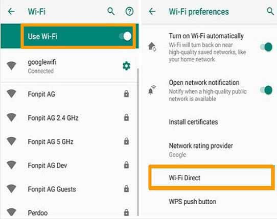 transfer data from samsung to huawei with wifi direct