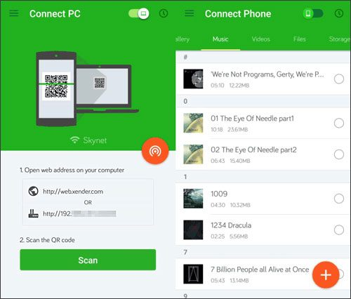 use xender to replace airdroid