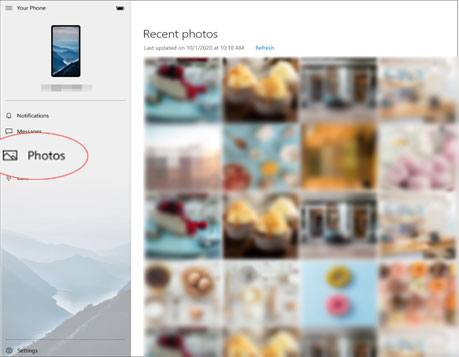transfer photos to my samsung galaxy tab via your phone app